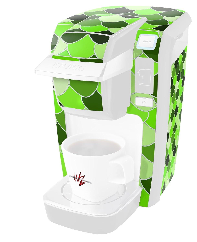 Scalesグリーン – デカールスタイルビニールスキンKeurig k10 / k15 Mini Plusコーヒーメーカー( Keurigに含まれません   B01MYRSMEK