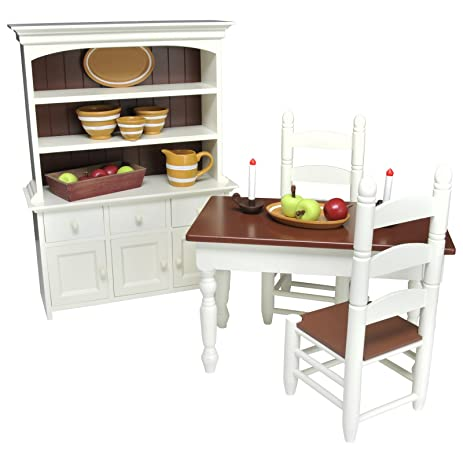 23 Pc Farmhouse Collection Furniture Accessories 18quot Doll Table Chairs Hutch