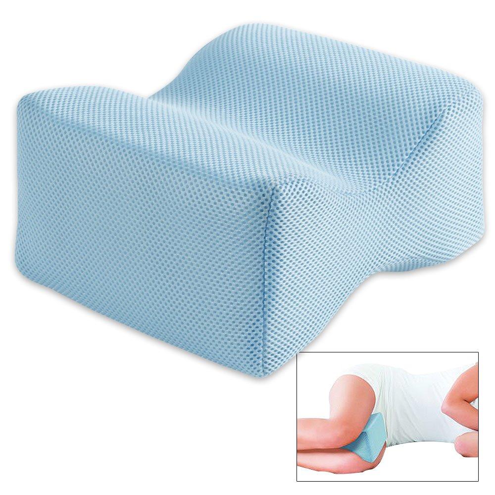 Ideaworks Knee Pillow, Blue, Medium