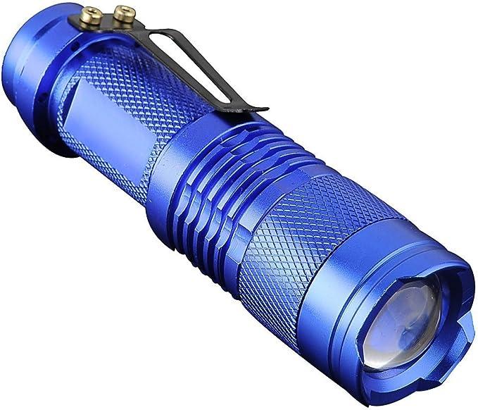 5x 6000LM wasserdicht Mini XML Q5 LED Taschenlampe Fackel Lampe Mit Clip 3 Modi