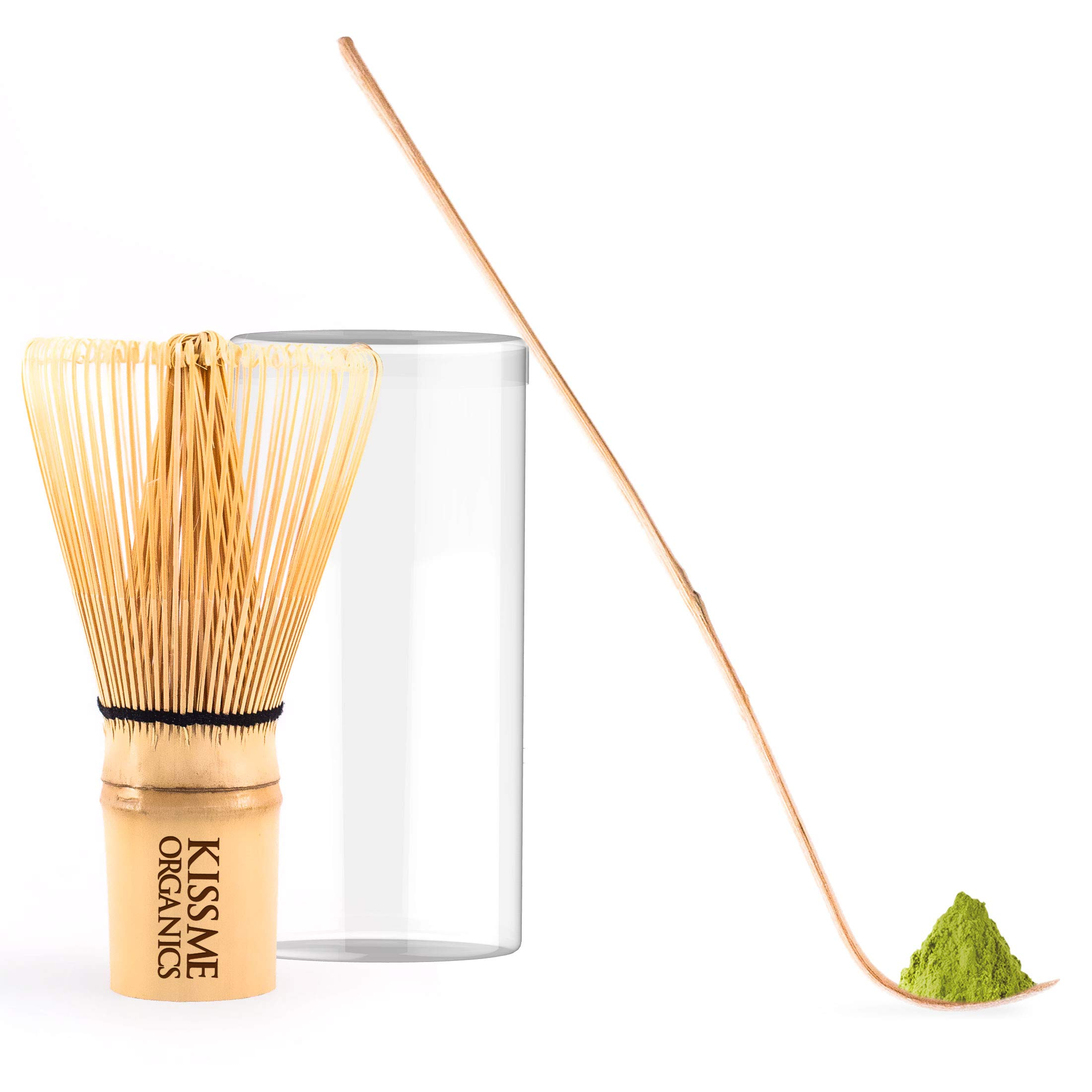 Matcha Tea Set - Perfect for a Traditional Cup of Matcha - Bamboo Whisk and Scoop (2 Units)