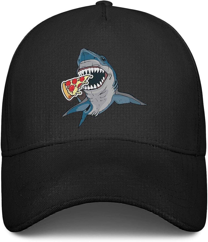 Shark Attack Pizza Ferocious Love Unisex Baseball Cap Cooling Sport Hats Adjustable Trucker Caps Dad-Hat