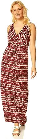 Roman Originals Vestido maxi para mujer, teñido anudado, con parte delantera, para mujer.