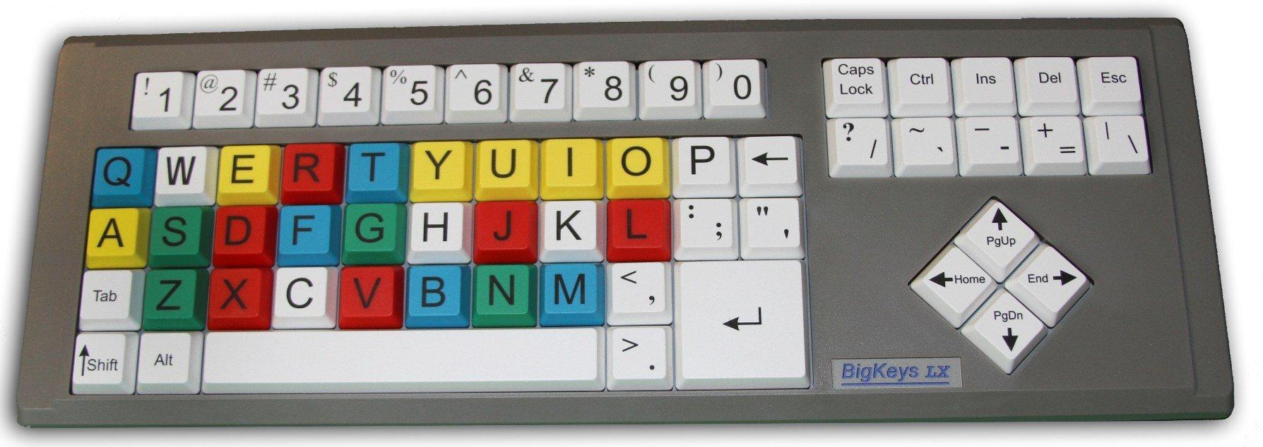Greystone BigKeys LX Kids Keyboard, Qwerty layout
