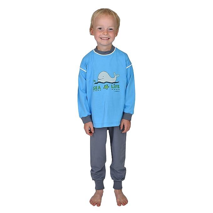 Mauz Pijamas manga larga para niños 2 piezas Sea Life color azul oceano tallas 92-
