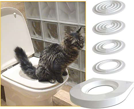 Servicat Arenero Provisional para adiestrar Gatos a Usar el W.C. ...