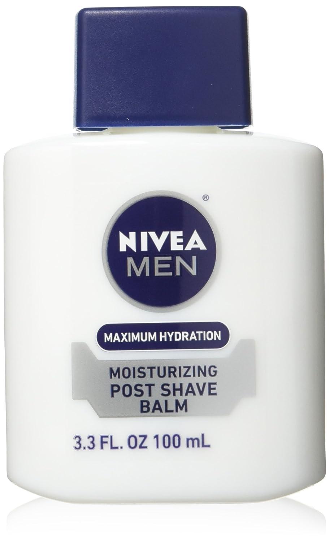 NIVEA Men Maximum Hydration Moisturizing Post Shave Balm 3.3 Fluid Ounce (Pack of 3) Nivea for Men