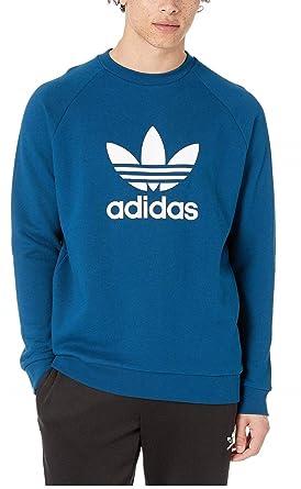 34db1c717 adidas Originals Men's Trefoil Crew Sweatshirt Legend Marine X-Small. Roll  over image to ...