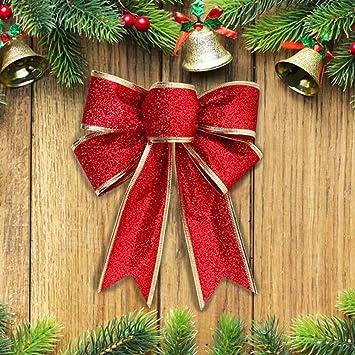 2x Gross Weihnachten Schleifen Weihnachtsbaum Anhanger Fenster Deko