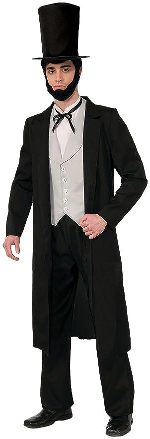 Steampunk Clothing- Men's Forum Novelties Mens Abraham Lincoln Xl Deluxe Costume $55.29 AT vintagedancer.com