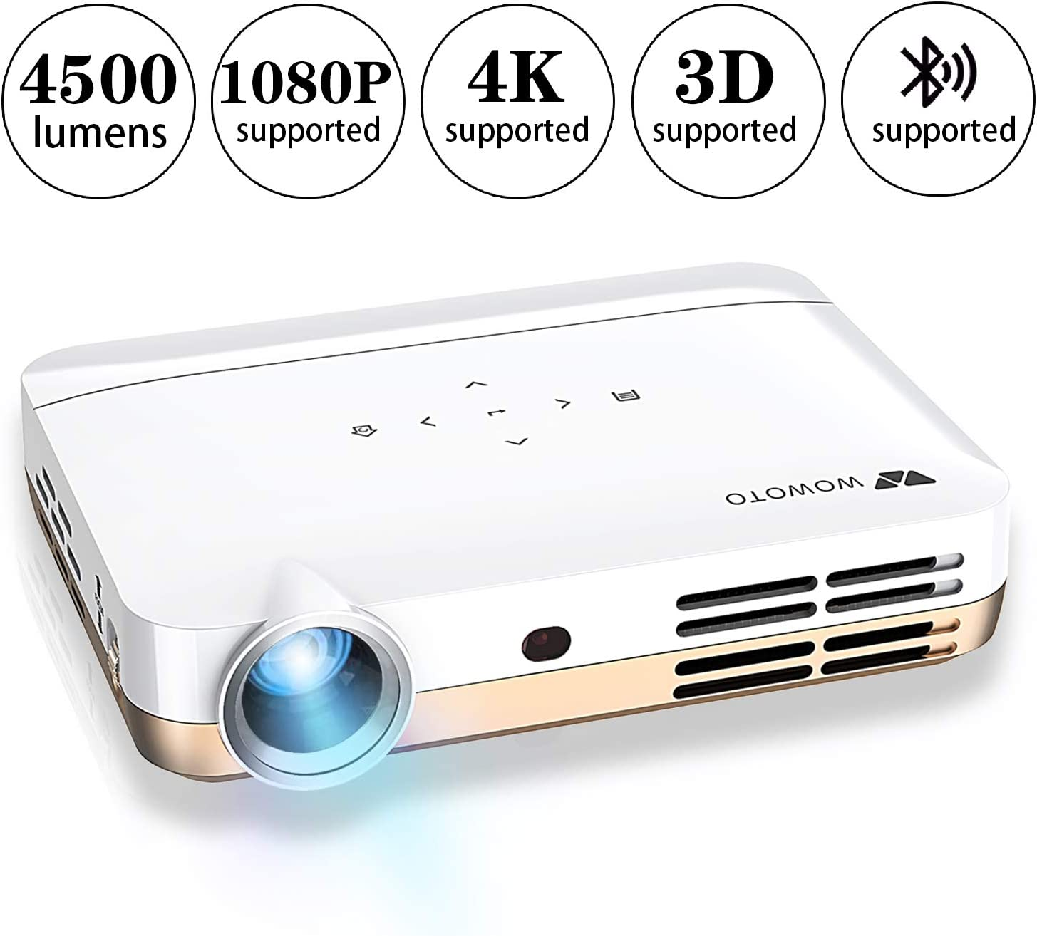Proyector de Video WOWOTO H10 Android 6.0 Proyector Inteligente 3D ...