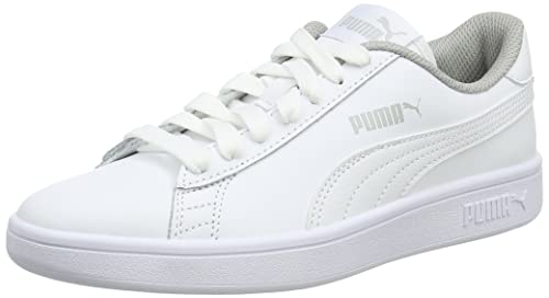 Puma Smash V2 L, Zapatillas Unisex Adulto, Blanco (Puma White-Puma White 7), 38 EU