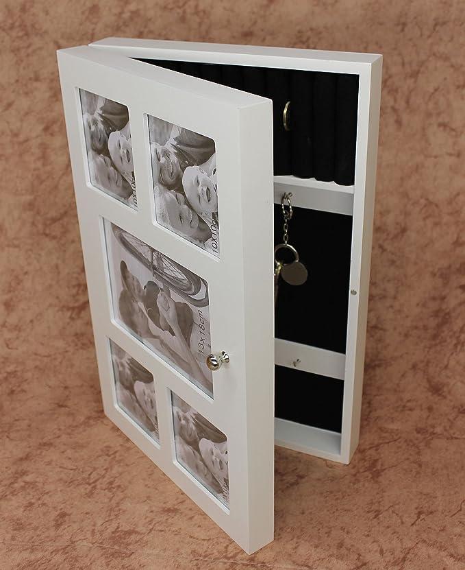 Schlüsselkasten mit Bilderrahmen 12622 Schlüsselkästchen Weiß ...
