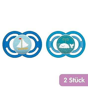 MAM Babyartikel 99953400 - Pack de 2 chupetes de silicona,sin BPA, surtido: colores/modelos aleatorios