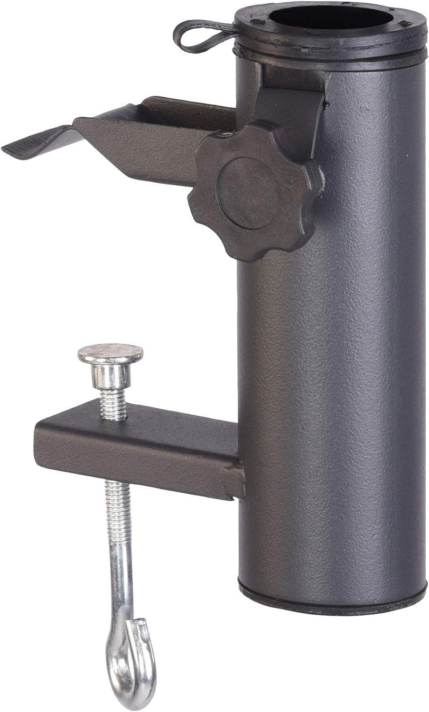 colore: antracite in metallo diametro fino a 48 mm Supporto per ombrellone da balcone Spetebo
