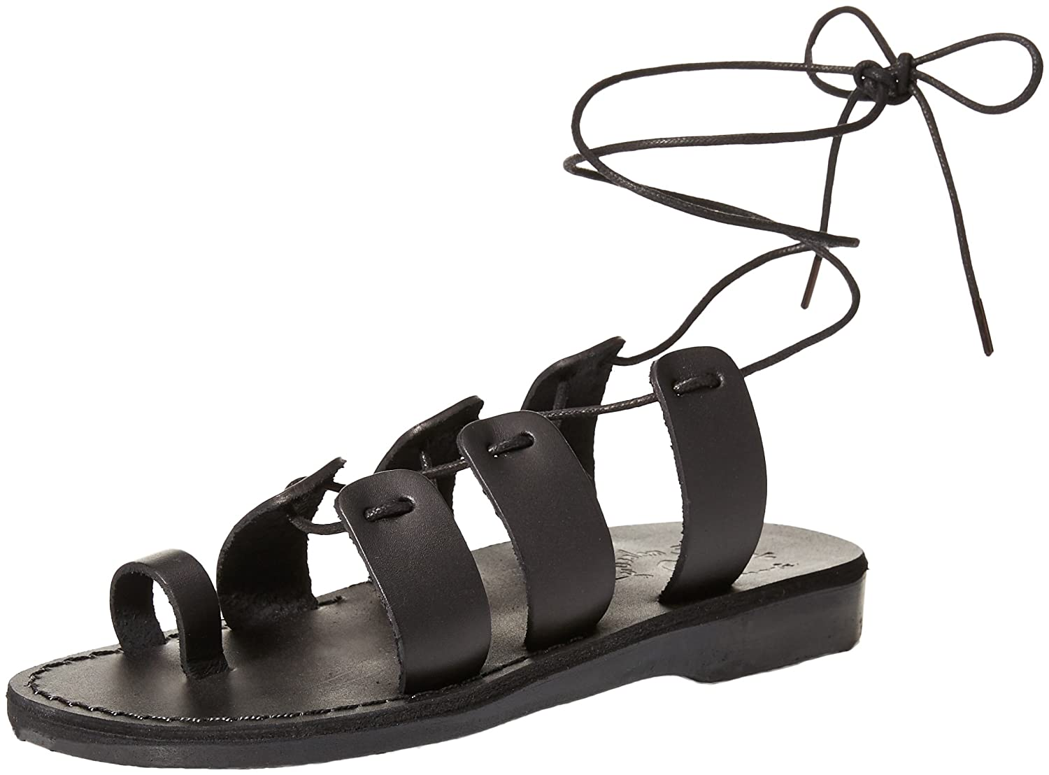 Jerusalem Sandals Women's Deborah Slide Sandal B075KYR4BF 42 Medium EU (11-11.5 US)|Black