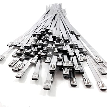 ab52a15b6bf1 5, 7.9mm x 680mm STAINLESS STEEL METAL CABLE TIES TIE ZIP WRAP EXHAUST HEAT  STRAPS INDUCTION PIPE: Amazon.co.uk: DIY & Tools