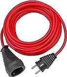 Brennenstuhl Qualitäts-Kunststoff-Verlängerungskabel 25m rot, 1167470
