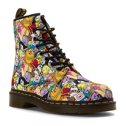 9c26ad84e0be8 Amazon.com   Dr. Martens Men s Adventure Time Characters Castel Fashion  Boots, Multi Canvas, 13 M UK, 14 M US   Ankle   Bootie