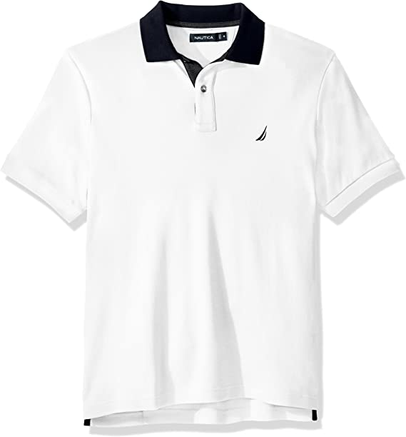 Nautica Hombre K82850 Manga Corta Camisa Polo - Blanco - Medium ...