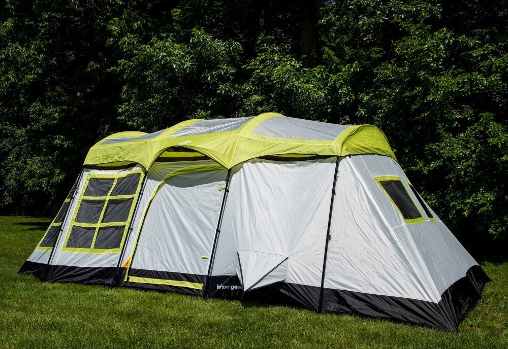 Tahoe Gear Glacier 14 Person 3-Season Family Cabin Camping Tent w/ Rain Fly - 14 Person Tent