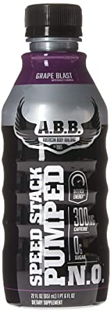 ABB Speed Stack Pumped N.O Nutrition Beverages, Grape,22 ounce, 12 Count