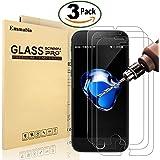 """[3 Pièces] Verre Trempé iPhone 8 Plus / 7 Plus, Emmabin Film Protection en Verre trempé écran Protecteur Vitre - Ultra Résistant Dureté 9H Glass Screen Protector pour iPhone 7 Plus / 8 Plus - 5.5"""""""