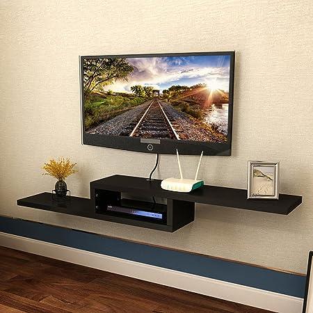 Estante De Estante Simple Y Moderno \ Estante De TV \ Estante Repisas De Pared De Estante \ Marco Decorativo Montado En La Pared (Color : Negro, Tamaño : 100cm): Amazon.es: Hogar