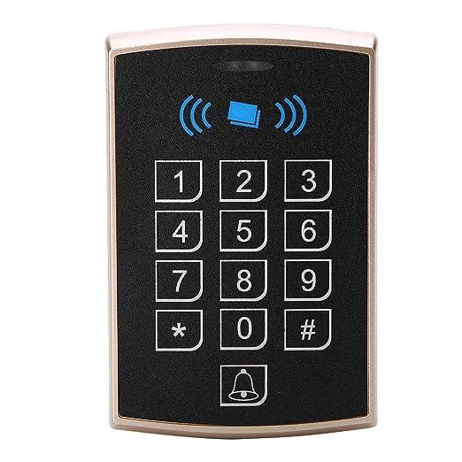 Controlador de Acceso, Tarjeta de proximidad sin Contacto RFID con Teclado Control de Acceso de Puerta de Seguridad(Gold)