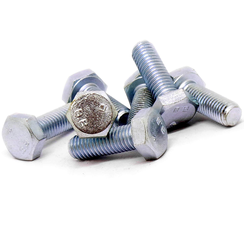 DealMux M4 x 30 mm rosca completa 0.7mm Pitch nylon cabeza hexagonal tap/ón de rosca de tornillo 50 PC