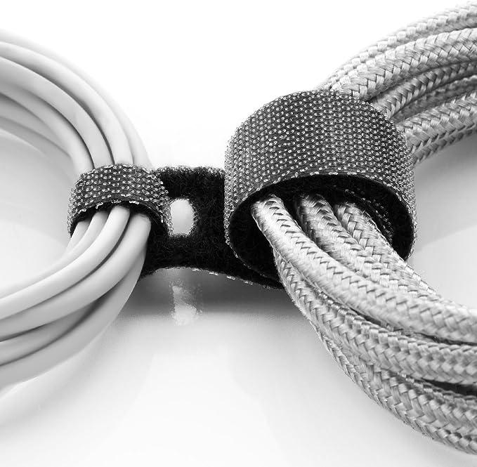 Deleycon 10x Klett Kabelbinder 11 5cm Klettband 12mm Breit Kabelmanagement Kabelorganizer Klettkabelbinder Klettverschluss Schwarz Baumarkt