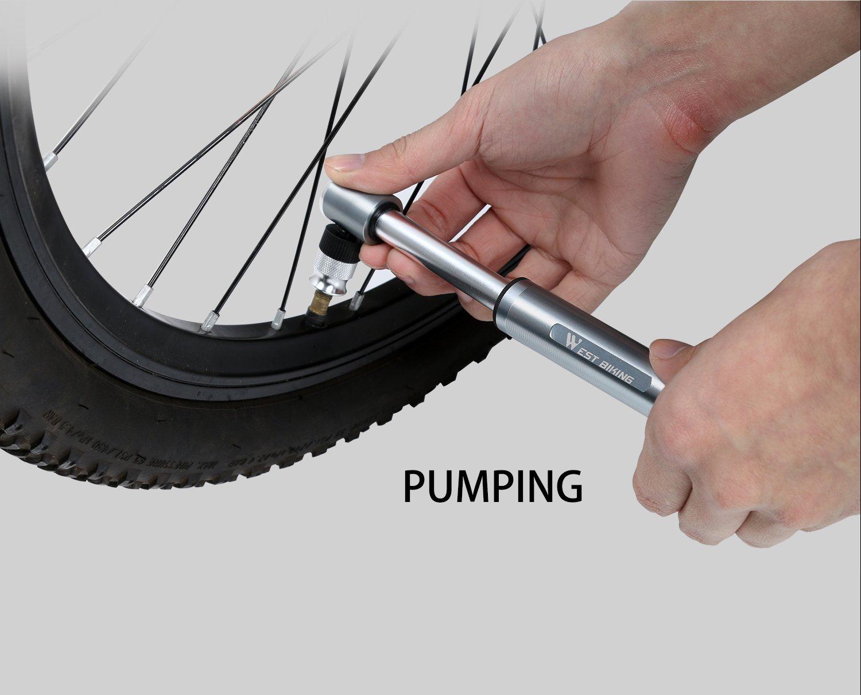 Mini Fahrrad Pumpe 160 PSI, tragbare Bike Reifen Luftpumpe mit Mount ...