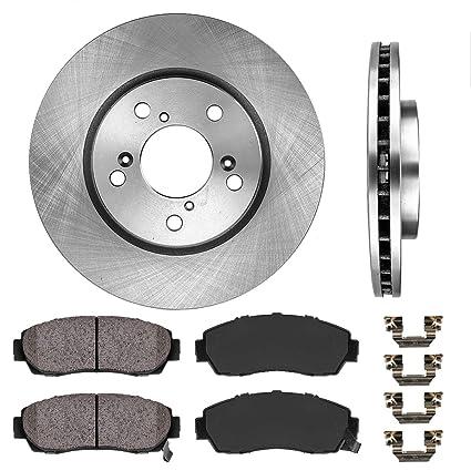 For 2011-2018 BMW X5 Front Rear eLine Drill Slot Brake Rotors+Ceramic Brake Pads