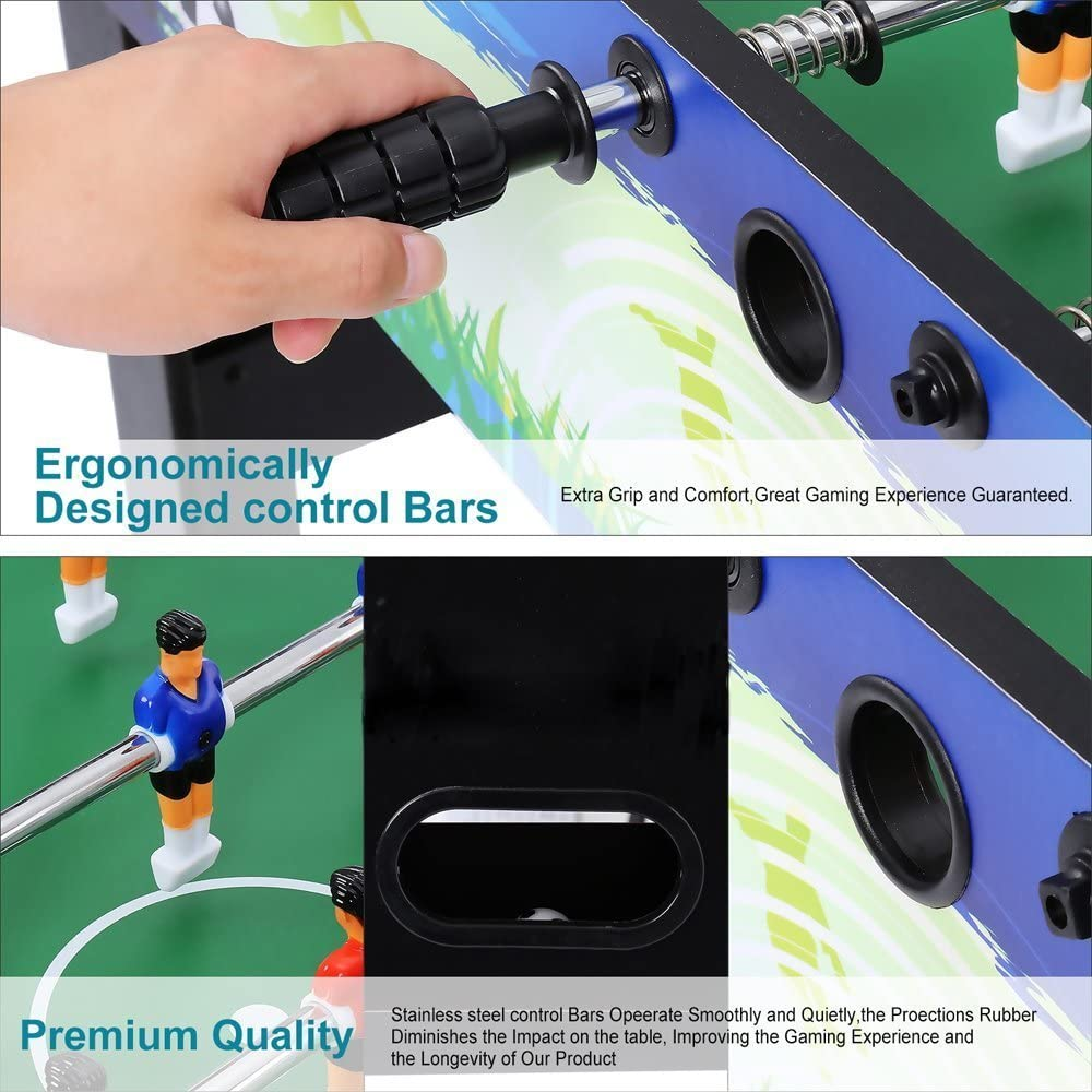 Dtemple Professional 48 Foosball Table Soccer Table Arcade Game Room Football Sports for Home US Stock