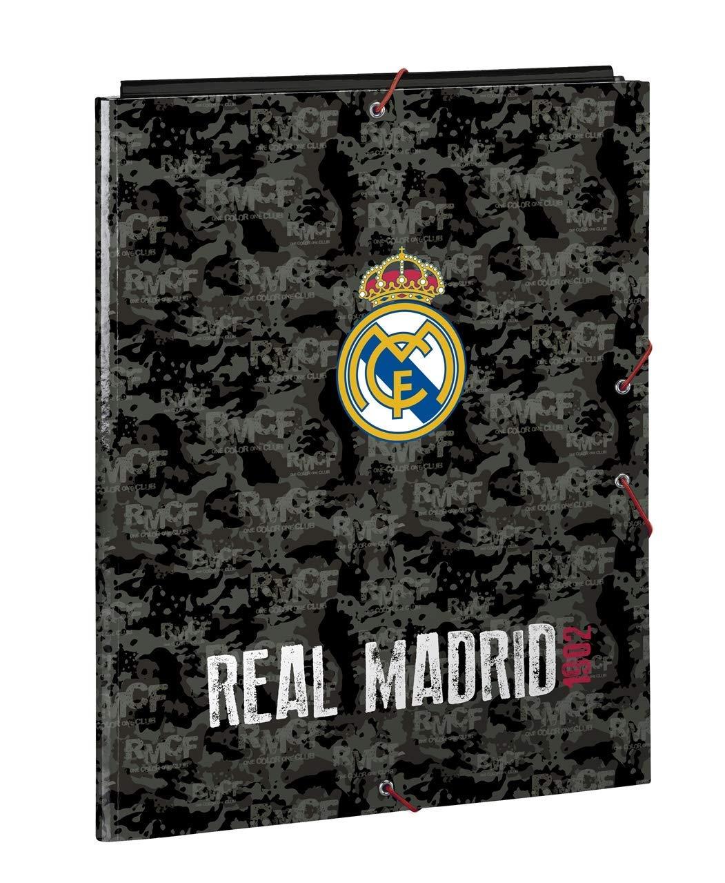 Safta Carpeta Folio 3 Solapas Real Madrid BLAC 26x33,5x2,5 511924068 Multicolor
