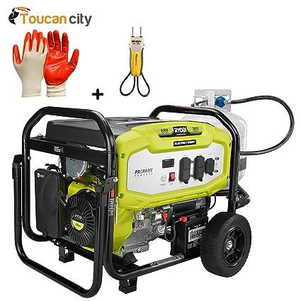Amazon.com: Ryobi 6300-watt Gas propano funciona con ...