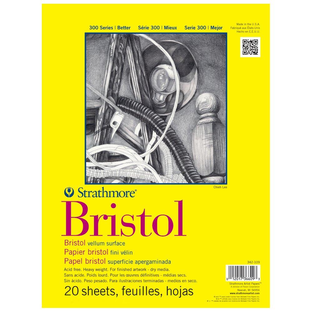 Strathmore Bristol Vellum Paper Pad 11x14-20 Sheets