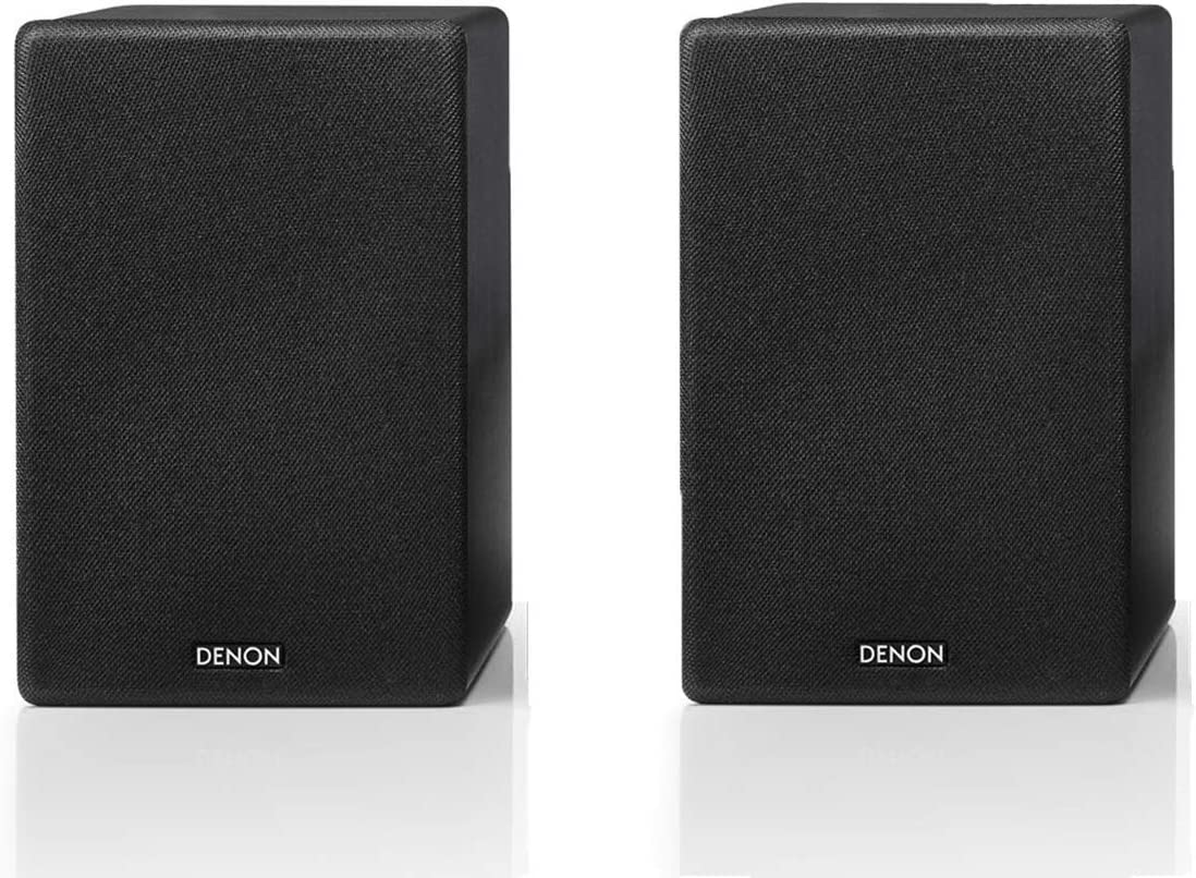 Denon SC-N10 Bookshelf Speakers 2 x 65W Award-Winning CEOL Series Bass Reflex Port Perfect for Smaller Rooms and Houses Compatible with a Wide Range of Amplifiers and Receivers Pair