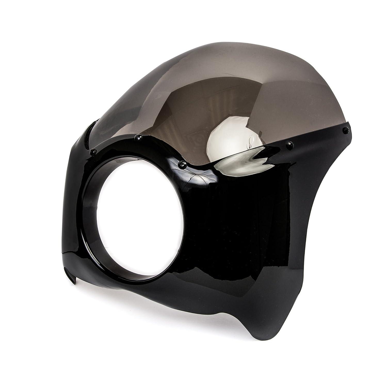 Krator Black /& Smoke Headlight Fairing Windshield Kit for Honda VTX 1800 TYPE C R S N F T RETRO