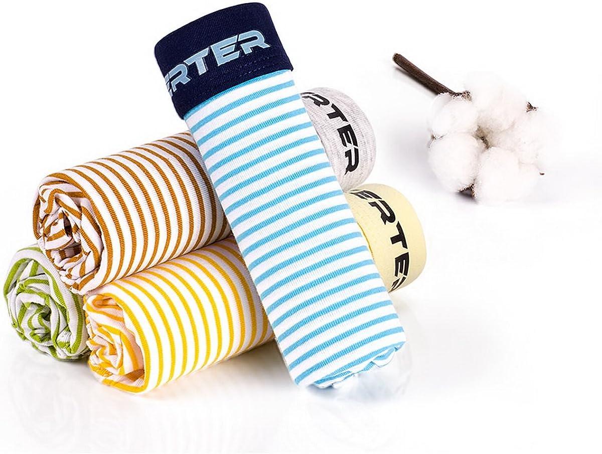 AHATECH Ragazzi Cotone Pantaloncini Mutande Boxer Pantaloncini per bambini 3-14 anni 6 pezzi