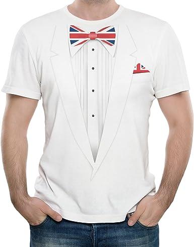 NEUVO - GRAN BRETAÑA SMOKING TUX - Hombre Camiseta Blanco - T ...