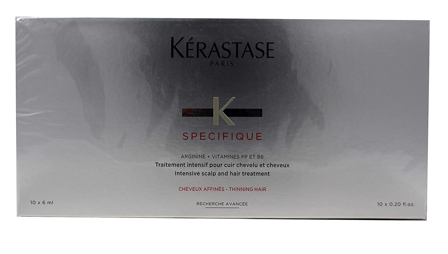 Kerastase Specifique Intensive Scalp Treatment (For Thinning Hair, Prone to Hair Loss) 10x6ml