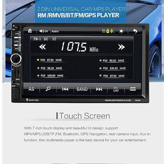 GPS 7020G, 7 pulgadas, con Bluetooth, para el coche: Amazon.es: Electrónica