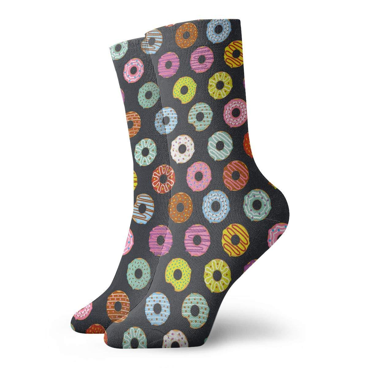 SESY Donut Sweet Dessert Unisex Crew Socks Short Sports Stocking