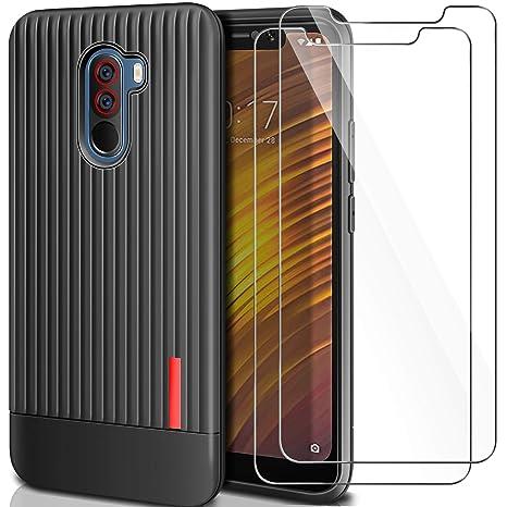 Yosemy Funda Xiaomi Pocophone F1 Silicona + [2 Pack] Cristal ...