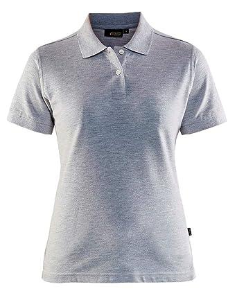 471b7a57dd Blaklader Workwear Womens Polo Shirt Grey Melange M at Amazon ...