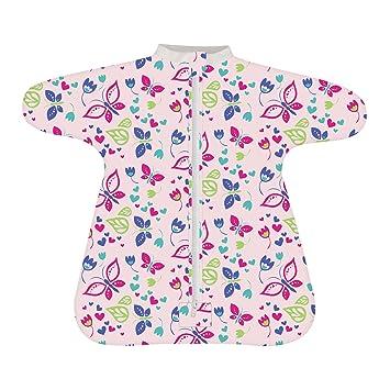 ... multiple colors 52f0f 26d30 Cozy Baby Sleeper Swaddle Wearable Blanket  by Revelae - Butterfly Garden ... fd4d97e62