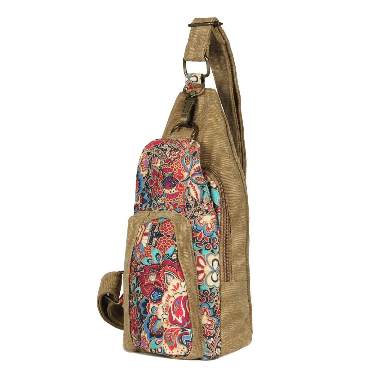 33d946c0756d Black Butterfly Outdoor Chest Pack Crossbody Bag for Women GirlsTravel  Daypack