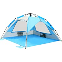 Pop Up Beach Tent - Instant Sun Shelter Cabana, Portable Beach Shade with SPF 50+ UV Protection for Kids & Family
