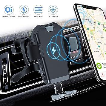 ACCGUYS Cargador de coche inalámbrico Qi para coche, 10 W/7 ...